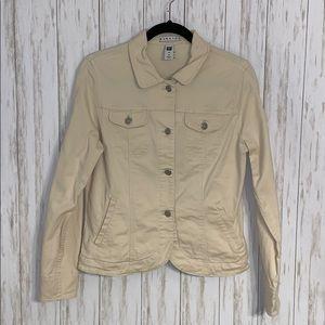 Size M Gap Factory Off White Jean Jacket